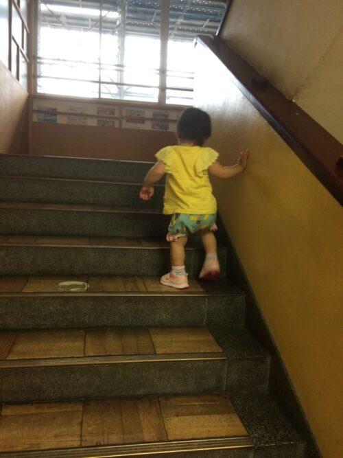 東京おもちゃ美術館の階段