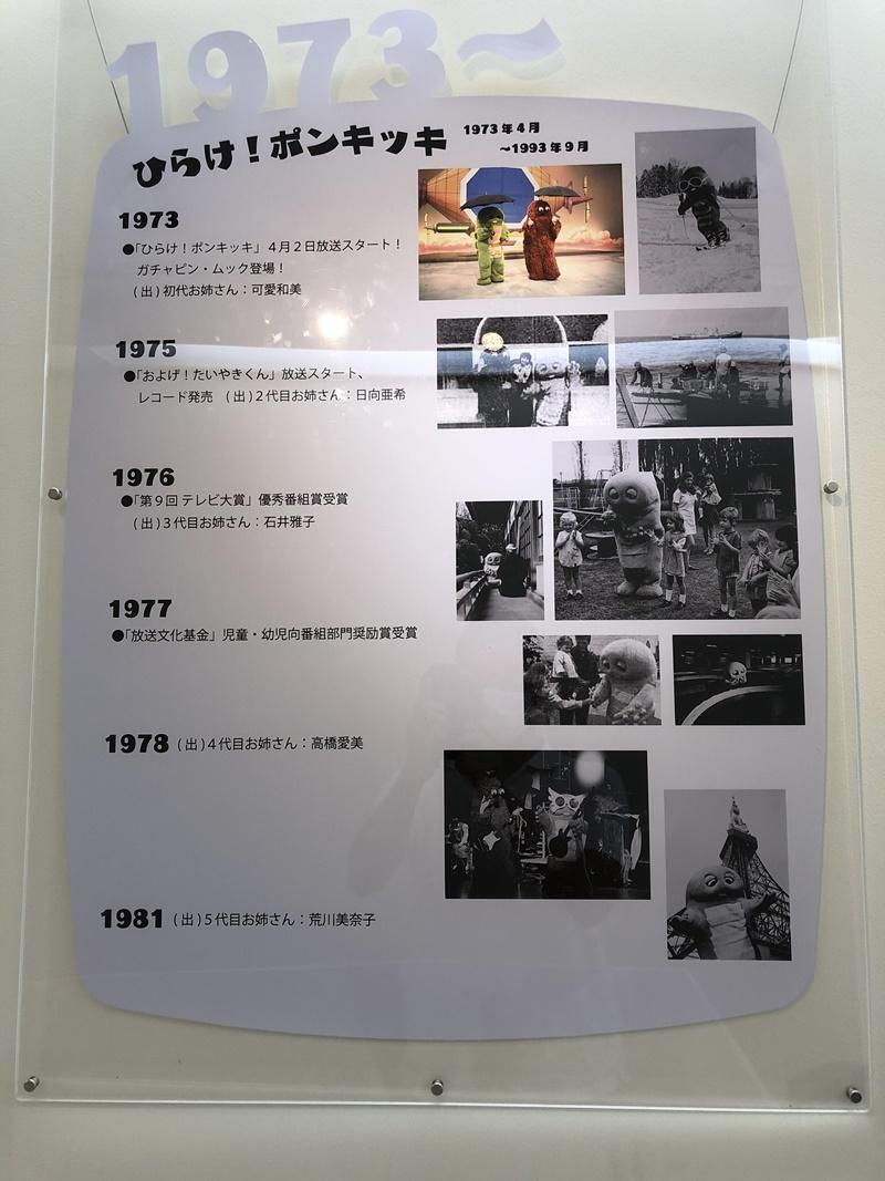 沿革の展示