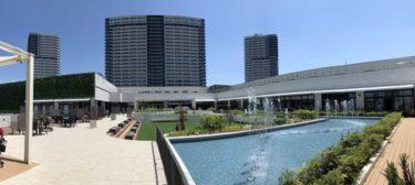 有明ガーデン子供の水遊び場!噴水で遊べる水のテラス!