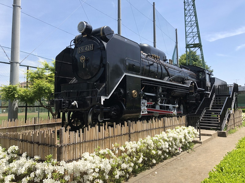 東調布公園機関車