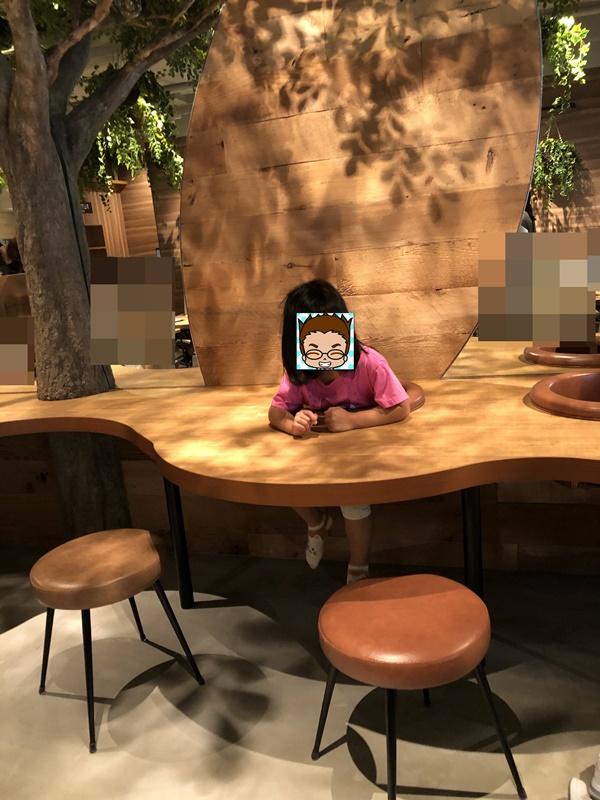 こもれびカフェカウンター席
