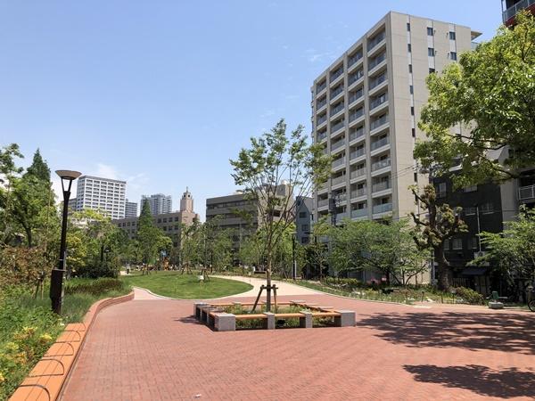 築地川公園入口