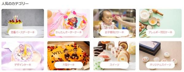 cake.jp人気カテゴリ