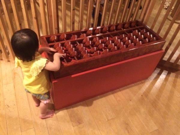 木製の大きな算盤