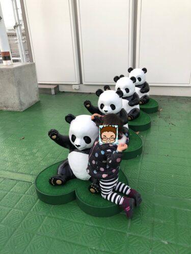 パンダと遊べる子供喜ぶ松坂屋上野の屋上広場スカイランド!