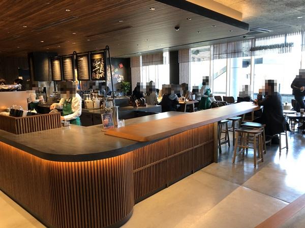 スターバックスコーヒー目黒セントラルスクエア店の店内